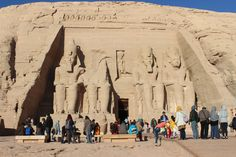 Abu Simbel Temple - Valley of the Kings.   Statue of King Ramesses II