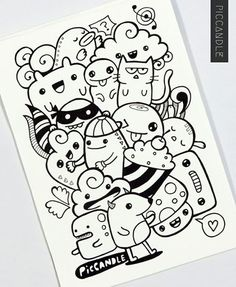 Drawing Doodles Sketches 40 Simple and Easy Doodle Art Ideas to Try - Gone are those days when doodling was only for the kids. If you want to touch your artistic side, these simple and easy doodle art ideas to try. Cute Doodle Art, Doodle Art Designs, Doodle Art Drawing, Doodle Sketch, Cute Art, Art Sketches, Drawing Ideas, Simple Doodle Art, Doodle Wall
