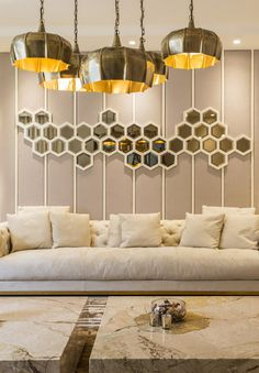 Contemporary design with – Indian Living Rooms Big Living Rooms, Living Room Sofa Design, Indian Living Rooms, Simple Living Room, Living Room Designs, Small Living, Modern Living, Living Room Walls, Living Room Partition