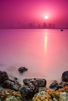 pink seaside