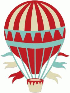 hot air balloon writing paper