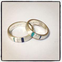 Argollas de plata con lapislázuli resina y turquesa | solocata@gmail.com | 093583732