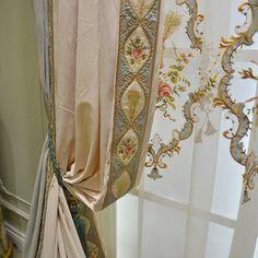 奢华大气法式窗帘客厅卧室高档豪华绒布欧式窗帘成品 法兰克