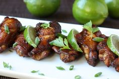 Asian Chicken Wings with Lime, Ginger, and Soy Sauce