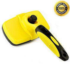 cat shedding spray - Easy Self Cleaning Pet Flea Comb Assistant Slicker for Dogs Cats, Dog Grooming Brush Tools with Non-slip Handle Safe & Fine Pins ** Find out more about the great product at the image link. (This is an affiliate link) Pet Dogs, Dog Cat, Cat Shedding, Cat Fleas, Buy Pets, Flea And Tick, Pet Grooming, Can Opener, Pet Supplies