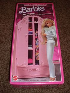 Barbie Sweet Roses Armoire House 4763 MIB 1987 Furniture Vintage Dresser Bedroom #Mattel