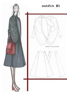 Fashion Sketchbook - fashion illustration; fashion design drawings; fashion portfolio // Ilaria Fiore