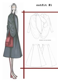 Fashion Sketchbook - fashion illustration; fashion design drawings; fashion portfolio // Ilaria Fiore