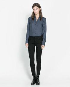 Image 1 de PANTALON DENIM  BLACK BROOKE de Zara