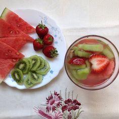 My Casual Brunch: lanche de melancia, kiwi e morango