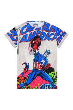 Little Eleven Paris. CAPTAIN t-shirt. £33 #captainamerica #comicbook #childrensclothing #tshirt