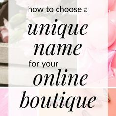 How to Choose a Name for Your Boutique - How To Start An Online Boutique? - Starting an online boutique but need name ideas? Click through for tips on how to choose a unique name for your online boutique. Cute Business Names, Naming Your Business, Creating A Business Plan, Business Planning, Business Ideas, Successful Business, Business Inspiration, Fashion Names Ideas, Fashion Store Names