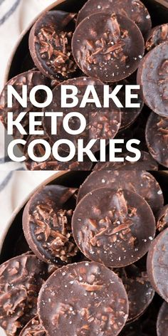 These fudgy Keto No Bake Cookies will remind you of classic no bake chocolate cookies without all the carbs! At just one net carb per cookie these sweet treats won't break your keto diet! recipes No Bake Keto Cookies Keto Cookies, No Bake Cookies, Mint Cookies, Biscuits Keto, Cookies Et Biscuits, Biscuits Fondants, Diet Ketogenik, Keto Diet Plan, Diet Foods