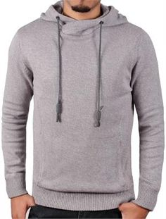Men's Marled Hooded Sweater from Jordan Craig Legacy Edition Heather Grey