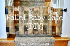 Little Lucy Lu: {DIY} Pallet Baby Gate