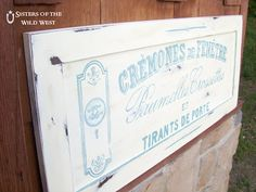 Sisters of the Wild West: Handpainted Sign Tutorial