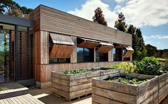 Современное деревянное дополнение к дому