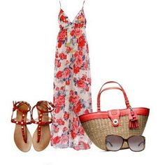 Floral spring dress, See more info. about this dress here: http://lolomoda.com/fabulous-summer-dresses-for-summer-2014/