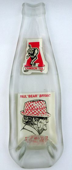 I know some people who would love this!      ALABAMA Bear Bryant 1981 Upcycled Vintage Coke by becadesigns, $24.00