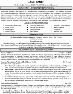 Customer Service Resume Template        Free Samples  Examples     Customer Service CV example