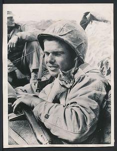 1945. Iwo Jima. G.I. with cat. Man with cat. | felines & their fellas |