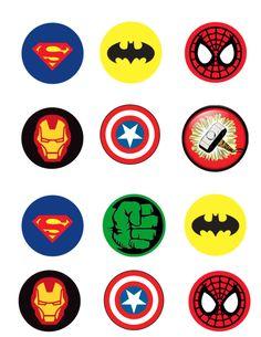 Edible superhero cupcake toppers set of 12 custom request avenger cupcakes, Avengers Birthday, Superhero Birthday Party, Superhero Party Favors, Superman Party, Avenger Party, He Man Tattoo, Avenger Cupcakes, Superhero Cupcake Toppers, Bottle Cap Images