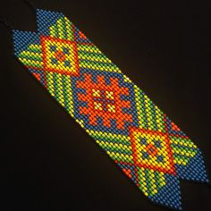 Beaded Bracelet / Native American / Colombian por TRIBALMUNAYA