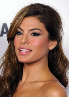 Eva Mendes flawless face,love her eyebrows!