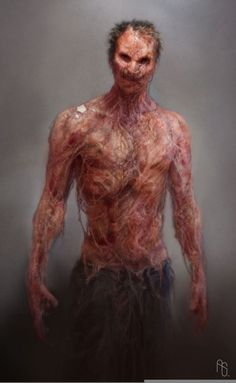 infected by Aaron Sims - Character and production design Neo Monsters, Anime Monsters, Realistic Drawings, Cool Drawings, I Am Legend, Beautiful Dark Art, Post Apocalypse, Cthulhu, Creature Design