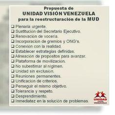 regram @unidadvisionvenezuela Propuestas! Sí te invitamos a leer los 16 puntos que traemos para buscar posibles soluciones a la situación actual del país. Seguiremos trabajando por recuperarte #Venezuela #democracia #sosvenezuela #oposicion #MUD #venezolanos #propuestas #democraciaenvenezuela #ONG #gobierno
