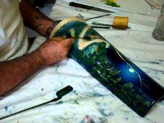 Laércio Alves pintura a dedo em telha - Parte 2