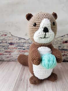 Modèle gratuit : loutre au crochet | Les Tricots et Loisirs d'Ophélie