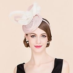 Women's / Flower Girl's Flax / Silk Headpiece-Wedding / Special Occasion / Casual Hats 1 Piece – USD $ 79.98
