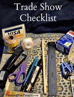 A printable checklist to prepare you for a trade show, farmer's market, or craft sale. Remember everything you need. This checklist will help.