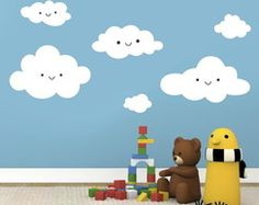 quartos de bebe menino desenhado ceu - Pesquisa Google