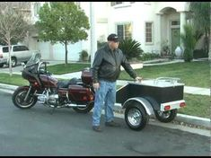 Pull Behind Motorcycle Trailers are an easy way to bring what you want, when you want. Leave it packed for camping and biker rallies, or use it for work. Motorcycle Trailer For Sale, Pull Behind Motorcycle Trailer, Motorcycle Camping, Homemade Trailer, Biker Rallies, Camping Packing, Cargo Trailers, Older Models, Trailers For Sale