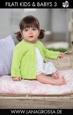 LANA GROSSA: Filati Kids & Babys 3 Modell 23: Jacke (Elastico)
