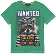 Wanted For Being Too Cool T-shirt on shopstyle.co.uk