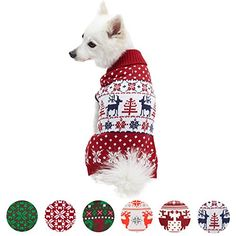 Boys Girls Brown Dogs with Red Hearts Pattern Lovely Sweaters Soft Warm Childrens Sweater