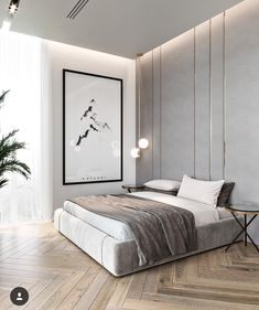 59 best minimalist bedroom design you must see 42 Interior Design Modern Bedroom Design, Interior Design Living Room, Bedroom Design Minimalist, Minimalist Interior, Contemporary Bedroom, Minimal Home Design, Modern Master Bedroom, Apartment Interior Design, Best Interior Design