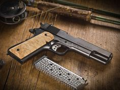 Cabot Guns is a new, American-made 1911 pistol company with roots in the aerospace machining industry. By using proprietary machine tools, the company boasts a frame-to-slide fit of .001-inch (.0005 per side), making them interchangeable between any other comparable 1911 pistol in the company's line up.
