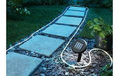 SOLAR Rope Light Create a radiant design statement in your garden almost effortlessly. This versatile string of outdoor LED lights is ideal for lining drives, paths, ponds, trees, gazebos, windows, decks, stairs and r http://www.comparestoreprices.co.uk/other-products/solar-rope-light.asp