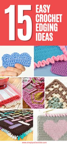 CROCHET BORDERS We put together 15 Easy Crochet Edging Ideas to help you find the perfect finishing touch for your project. Crochet Edging Patterns Free, Crochet Boarders, Crochet Blanket Patterns, Crochet Ideas, Afghan Patterns, Loom Patterns, Crochet Edging Tutorial, Free Pattern, Crochet 101
