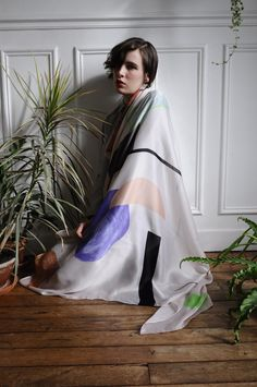 Luna MAria Cedron with Calder scarf, photography by Maxime Ballesteros