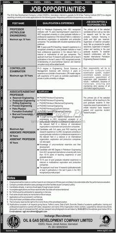 Job Opportunities In Oil & Gas Development Company Islamabad  http://www.dailypaperpk.com/jobs/180525/job-opportunities-oil-gas-development-company-islamabad