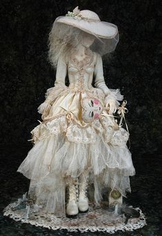 """This is my winning entry into the costuming contest: Masquerade Atelier. She is inspired by Miss Havesham in """"Great Expectations"""" by Dickens."""