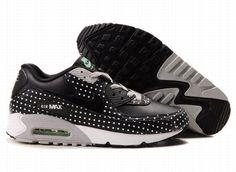 super popular 7fefd 5ce8b Nike Air Max 90 Black White Grey Dot