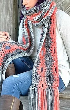 [Free Pattern] Look Super Stylish With This Amazing Mega Scarf                                                                                                                                                                                 More