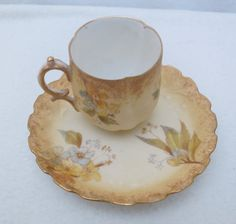 M Redon Limoges Demitasse Gold Trimmed Cup And by Framarines