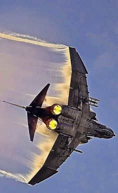 F4 Phantom Kicking in the after burner's,used in the Vietnam war era